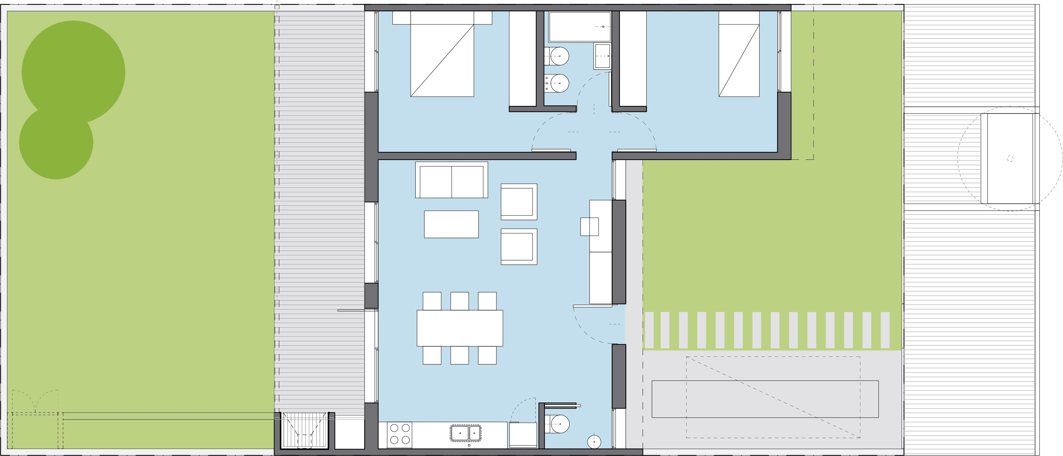 Bicentenaria 2 dormitorios procrear programa cr dito for Programa para planos de viviendas