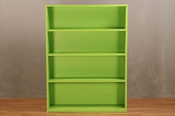 Lime Painted 4 Tier Bookshelf