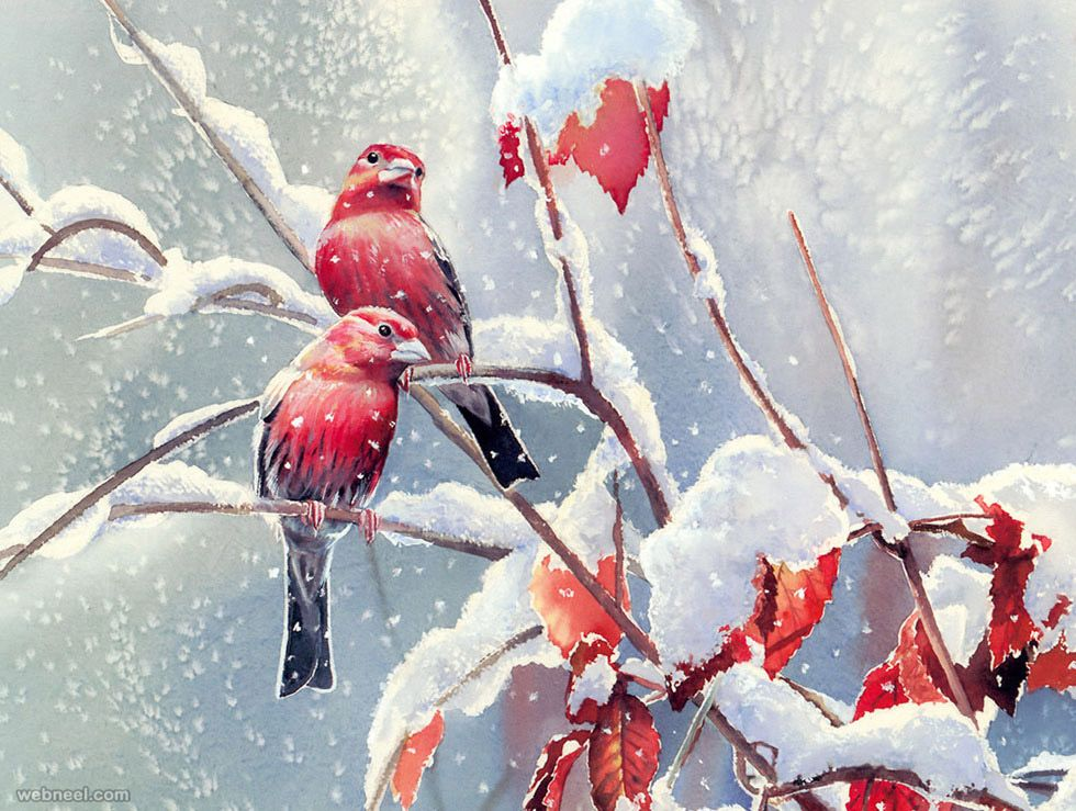 50 Beautiful Bird Paintings and Art works for your inspiration | Read full article: http://webneel.com/bird-paintings-art | more http://webneel.com/daily | Follow us www.pinterest.com/webneel