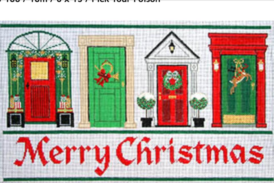 Meredith Collection needlepoint Christmas doors