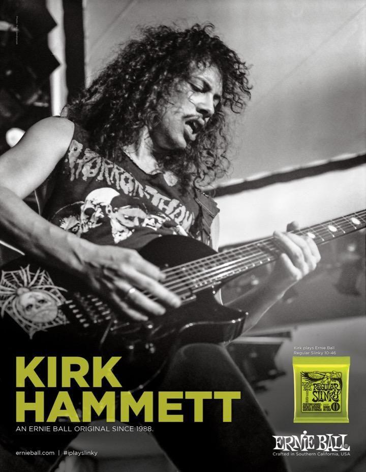 Famously Slinky. @Metallica's @KirkHammett plays Ernie Ball electric strings #iplayslinky http://musc.mn/1W48Rg7
