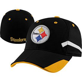 Get this Pittsburgh Steelers Youth Stadium Structured Flex Fit Cap at  ThePittsburghFan.com d4f4fde63