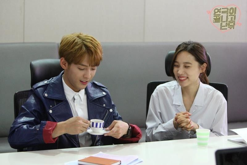 Ma Rokhee 마록희 (BTOB's Minhyuk) and Go Alli 고알리 (Yoon Sohui)