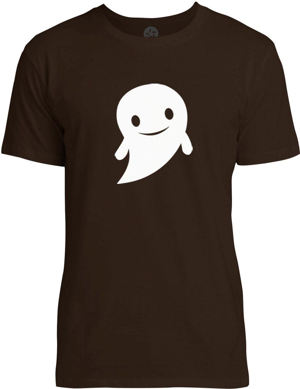 Happy Halloween Ghost (White) Mens Fine Jersey T-Shirt