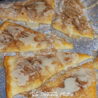 Cinnamon sugar pizza.