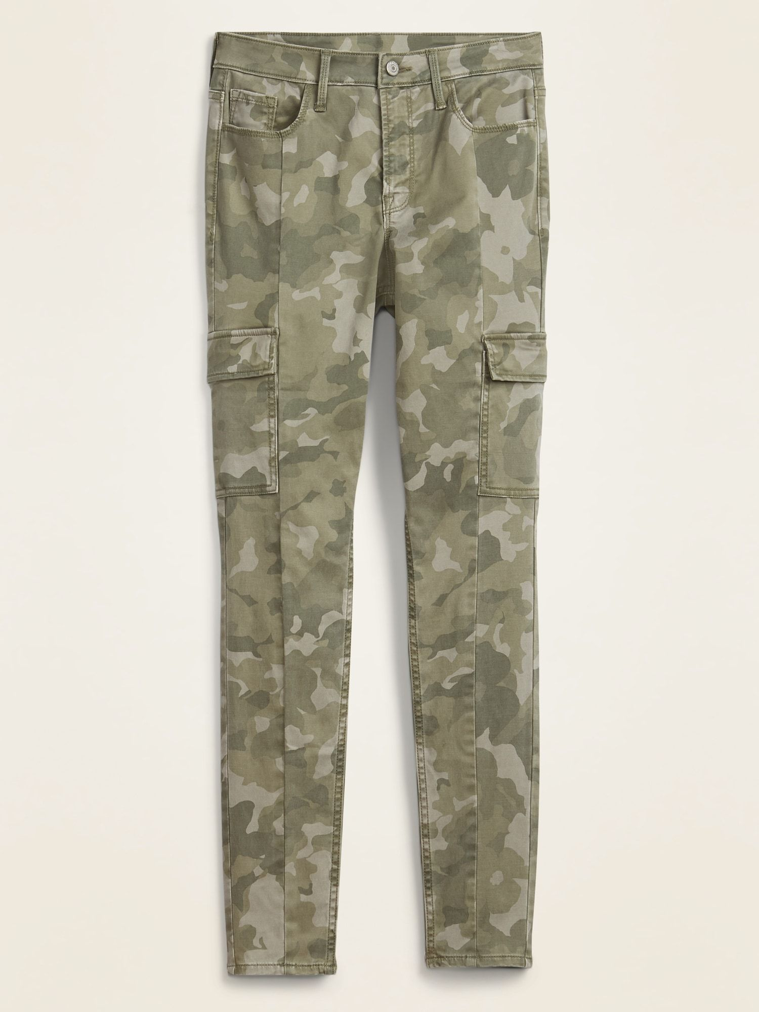 High Waisted Camo Sateen Rockstar Super Skinny Cargo Pants For Women Old Navy In 2020 Skinny Cargo Pants Cargo Pants Women Pants For Women