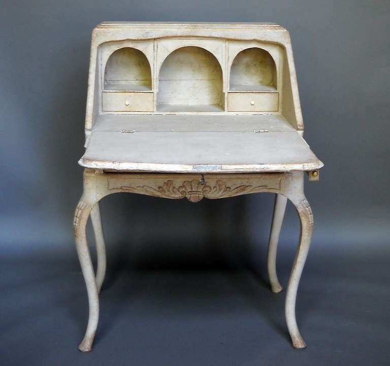 Swedish Ladies Writing Desk | From a unique collection of antique and modern desks at http://www.1stdibs.com/furniture/storage-case-pieces/desks/
