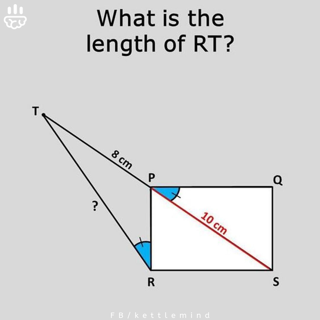 What's teh length of RT? Best tricky questions are here