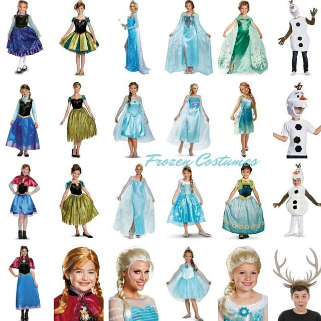 2017 Disney FROZEN Halloween Costumes for the Whole Family  sc 1 st  Pinterest & 2017 Disney FROZEN Halloween Costumes for the Whole Family | Elsa ...