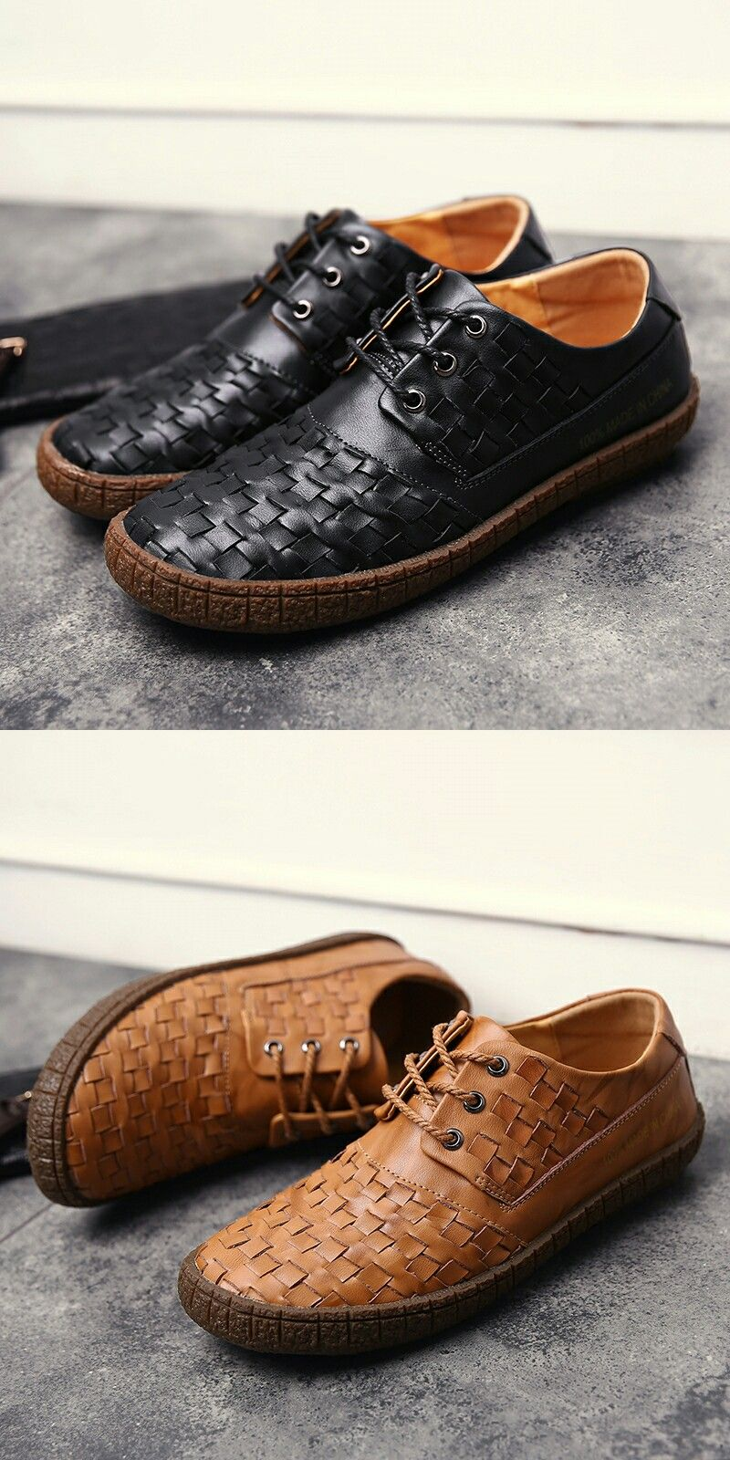 Prelesty Genuine Leather Men Casual