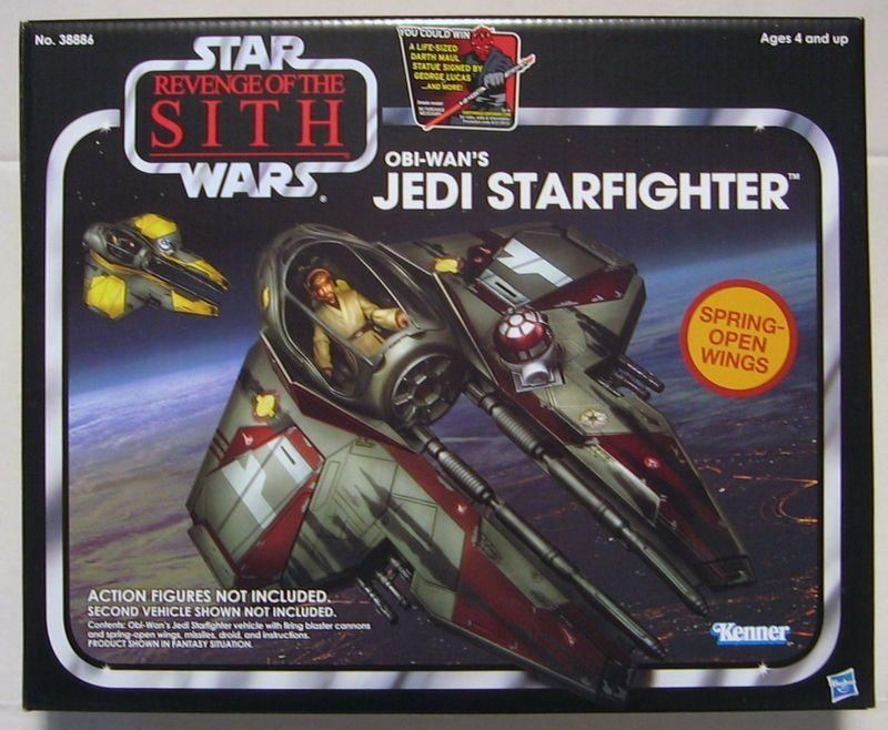 "NEW 7/"" STAR WARS Epic Battles OBI-WAN KENOBI JEDI STARFIGHTER Hasbro figure gift"