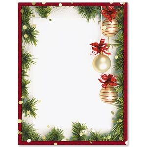 Christmas Twilight Letterhead  Stationery Business Ink Color And