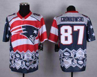 1f5b07c84 Nike New England Patriots  87 Rob Gronkowski Navy Blue NFL Elite Noble  Fashion Jersey