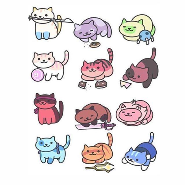 Steven Universe + Neko Atsume. This is so cute!