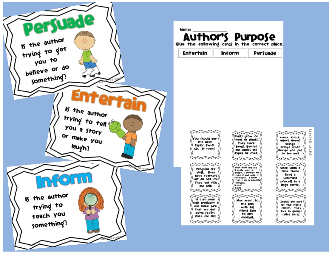 Free Worksheet Authors Purpose Worksheets 17 best images about authors purpose on pinterest free items graphic organizers and pies