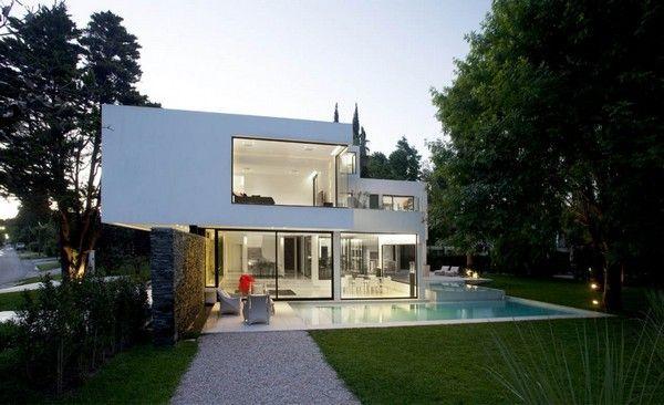 Maison contemporaine blanche Villas, House and Architecture