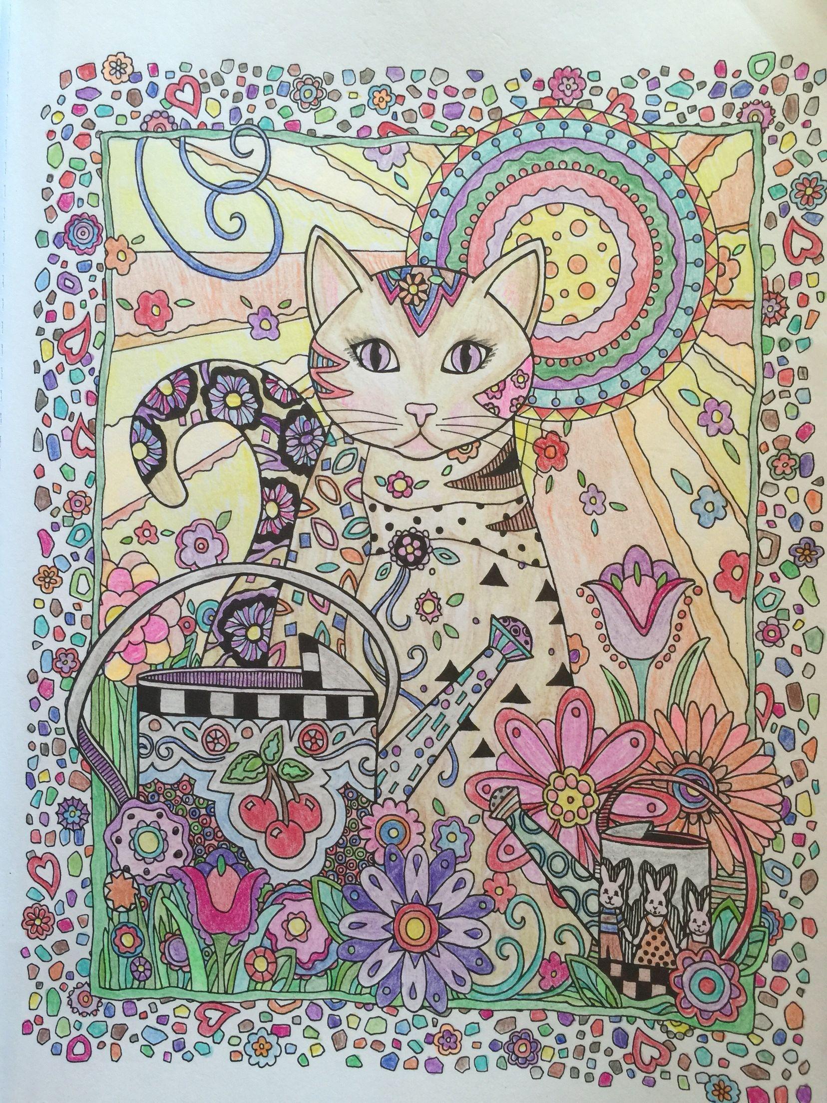 Creative cats by marjorie sarnat cat coloring book cat