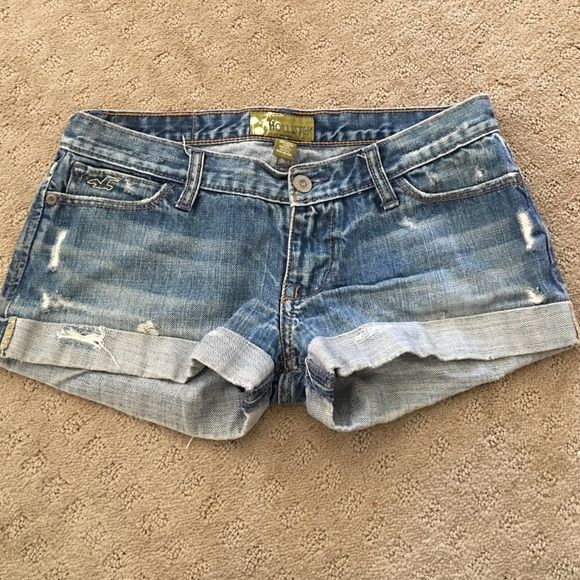 Hollister denim shorts. Ripped denim shorts. Perfect for summer. Hollister Shorts Jean Shorts