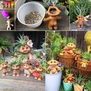 How Adorable Are These Troll Succulent Planters! (Amazing Interior on