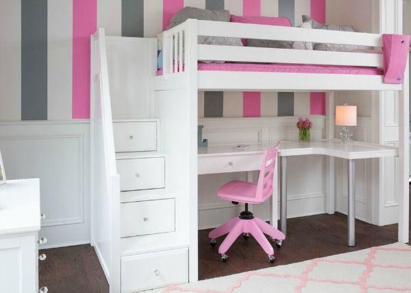 Climb Up Loft Beds Bunk Beds Easily With Stairs Bunk Bed With Desk Bed With Desk Underneath White Bunk Beds