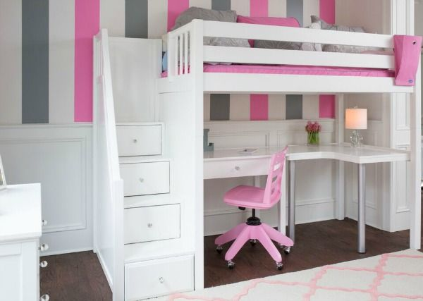 Climb Up Loft Beds Bunk Beds Easily With Stairs Bunk Bed With Desk White Bunk Beds Bunk Beds With Stairs