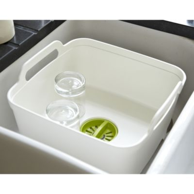 Dark Grey//Grey Joseph Joseph Wash and Drain Plus Washing Up Bowl with Dish Drainer