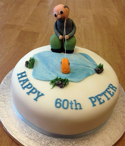 Adult fish birthday cakes images of fishing birthday cake say it