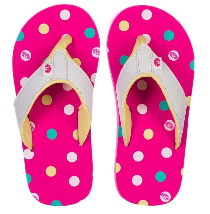 69cc7e3b58dd Beach Sandals · Animal Swish AOP Girls – Neon Pink £12.00 - available at  www.fabflipflops.