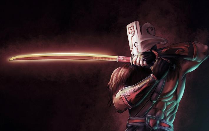 Download Wallpapers Juggernaut 4k Warrior Sword Art Dota 2