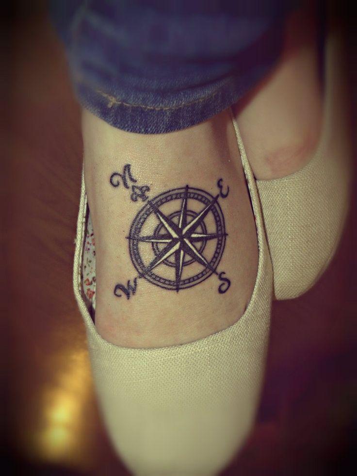 Puntos Cardinales Tatuaje compass tattoo shoulder collarbone :)   my style   pinterest