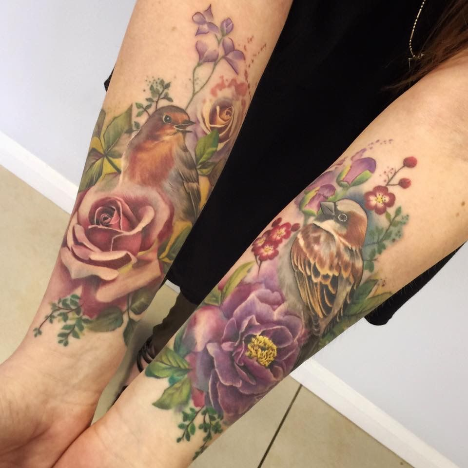 Pin By Elly Clifton On Clever Tattoos Pinterest Colorful Roses