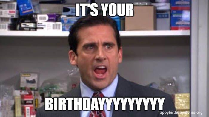 it's your birthdayyy meme | The office birthday meme, Snow ...