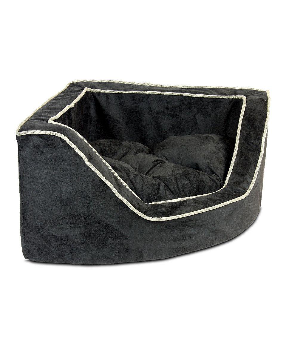 Loving this Black & Herringbone Snoozer Luxury Corner Pet