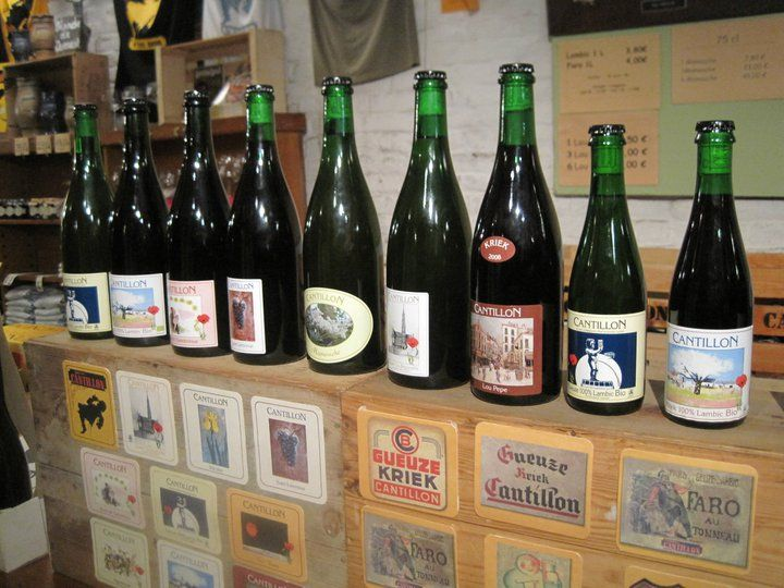 The Cantillon Beer Lineup. I Toured the brewery and found that I don't like any of the beer they have. They make Lambic beer/Gueuze. Every one of them was much too sour for me to drink and I like sour food & drink.