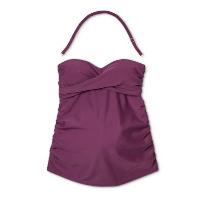 755abfa51a388 Maternity Wrap Bandeau Tankini Top - Isabel Maternity by Ingrid & Isabel  Berry Xxl, Women's, Purple