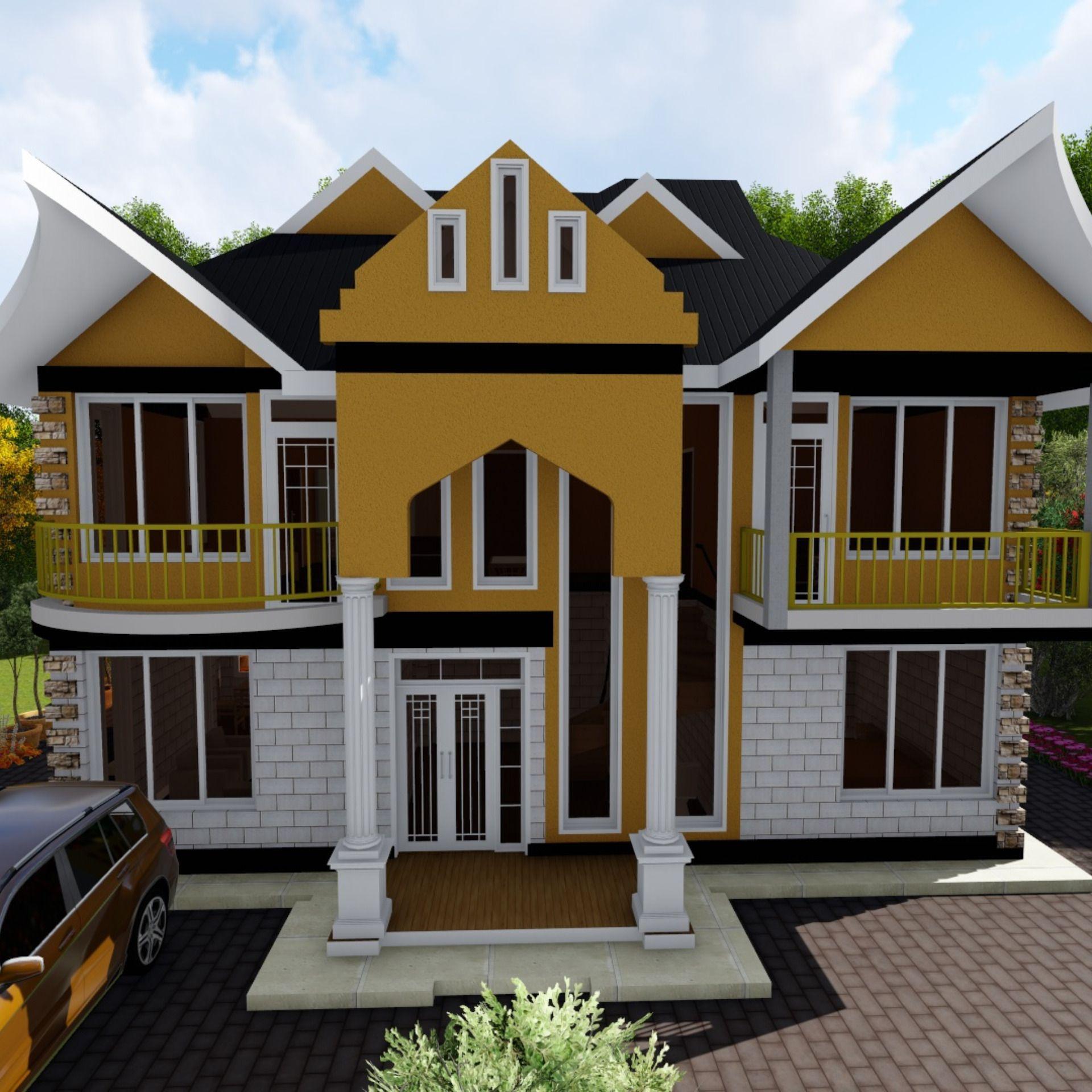 4 Bedroom Roofed Home House Designs In Kenya 4 Bedroom House Designs House Plans