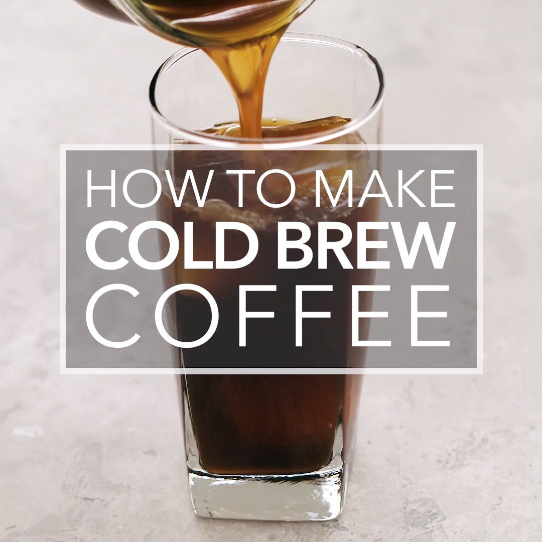 Make cold brew coffee at home! It's so easy, and your iced coffee will never taste watery or bitter again.