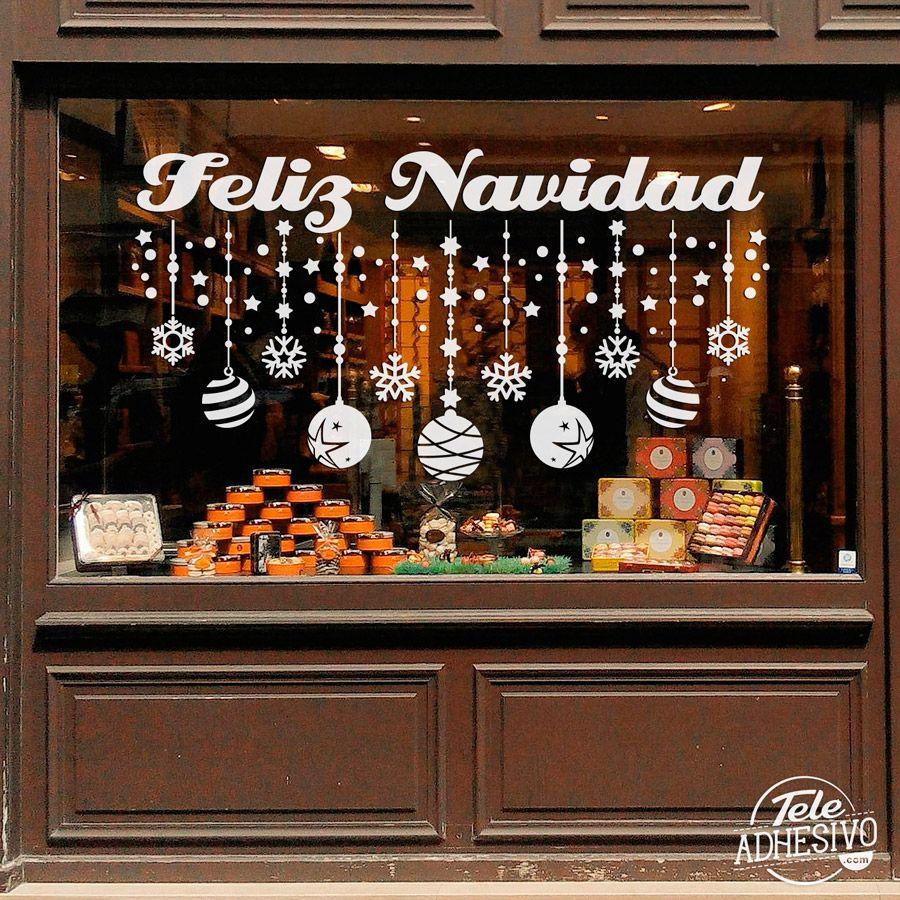 Vinilos decorativos decoraci n feliz navidad 2 decorar - Como hacer un escaparate ...
