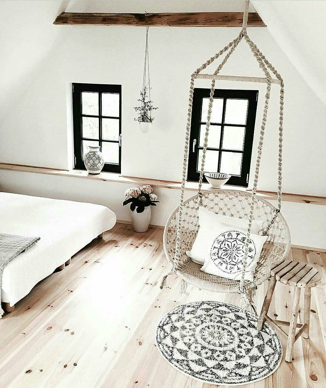 White comfy bedroom swing chair pinterest bedrooms interiors