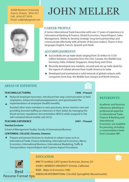 Best Resume Format Online (richardbeard541) on Pinterest