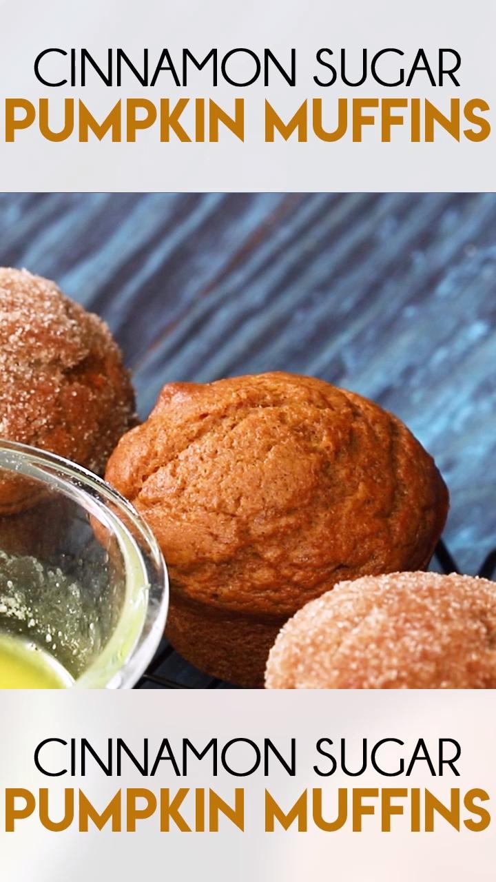 Cinnamon Sugar Pumpkin Muffins #pumpkinmuffins