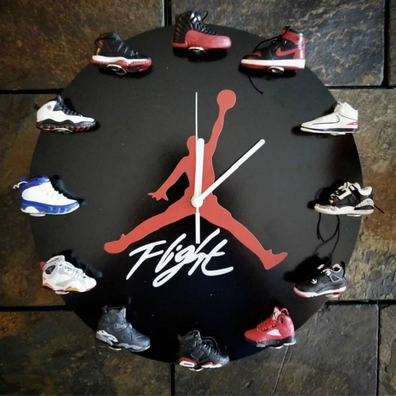 Air Jordan 3D Sneaker Clock with 1-12 Mini Sneakers   Air jordans ...