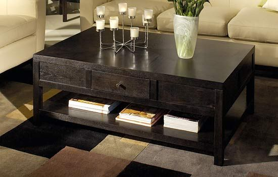 wooden living room tables. Kind of digging this dark wood coffee table  Cozy living room