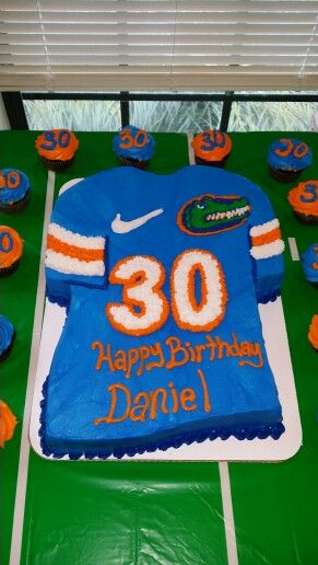 Pleasing Florida Gators Birthday Cake Husband Birthday Parties Husband Personalised Birthday Cards Veneteletsinfo
