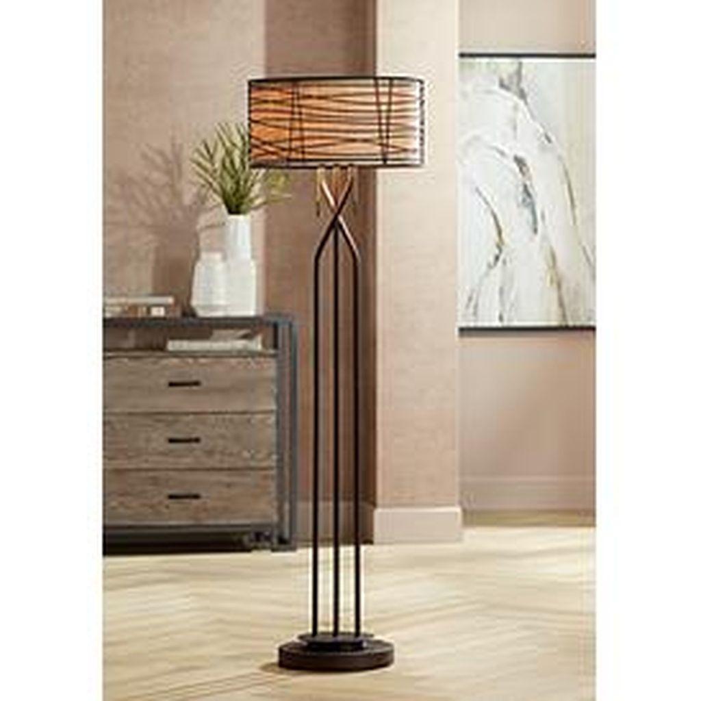 Marlowe Bronze Woven Metal Floor Lamp