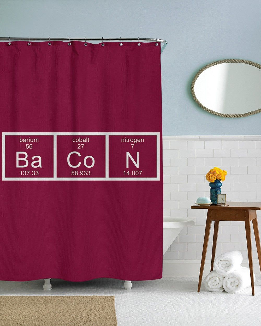 Bacon Chemistry Shower Curtain