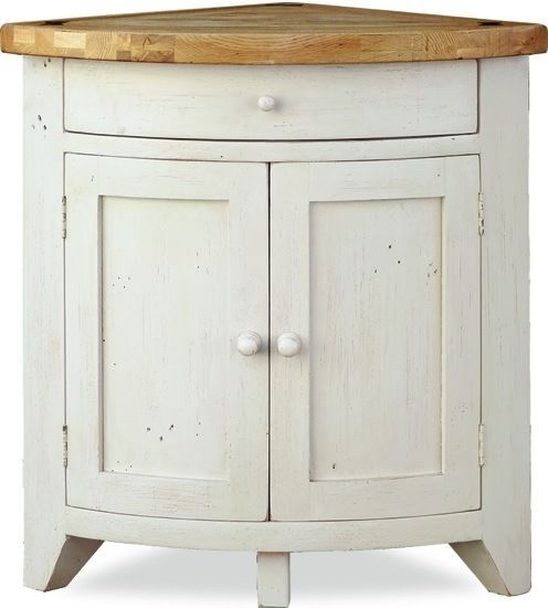 Minack Oak Corner Cupboard Country Style Painted Kitchen Cabinet Sideboard