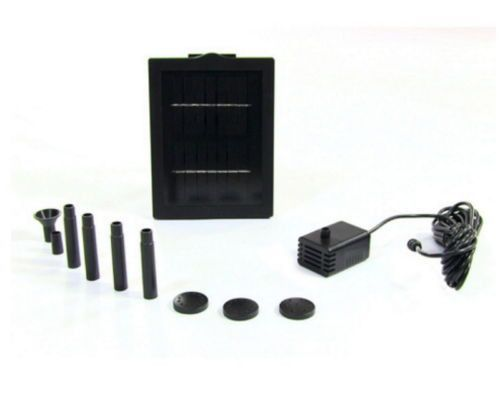"""Outdoor Garden Water Fountain Solar Pump And Panel Kit With 24"""" Lift Adapters"""