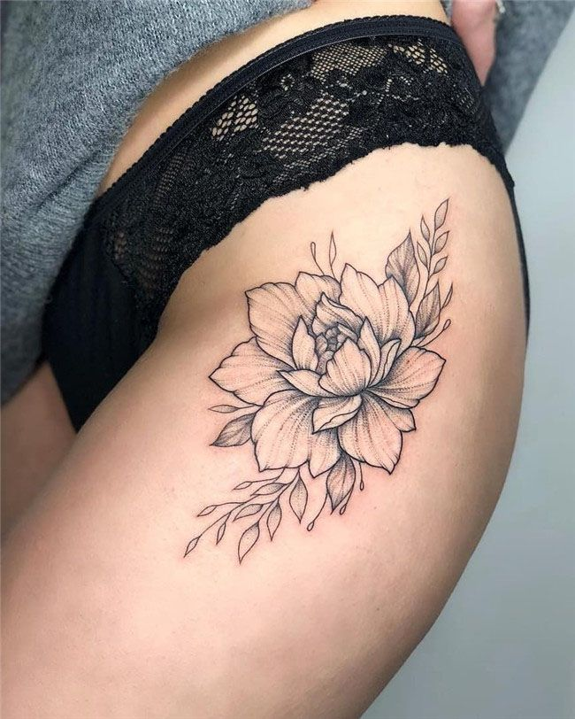 78 Best Small And Simple Tattoos Idea For Women 2019 Thigh Tattoo Designs Flower Thigh Tattoos Thigh Tattoo