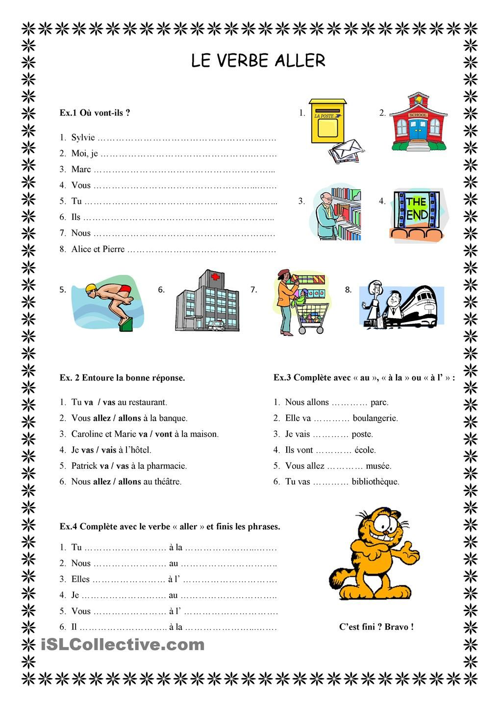 Le verbe aller speak french learning french and language - Fait maison en anglais ...